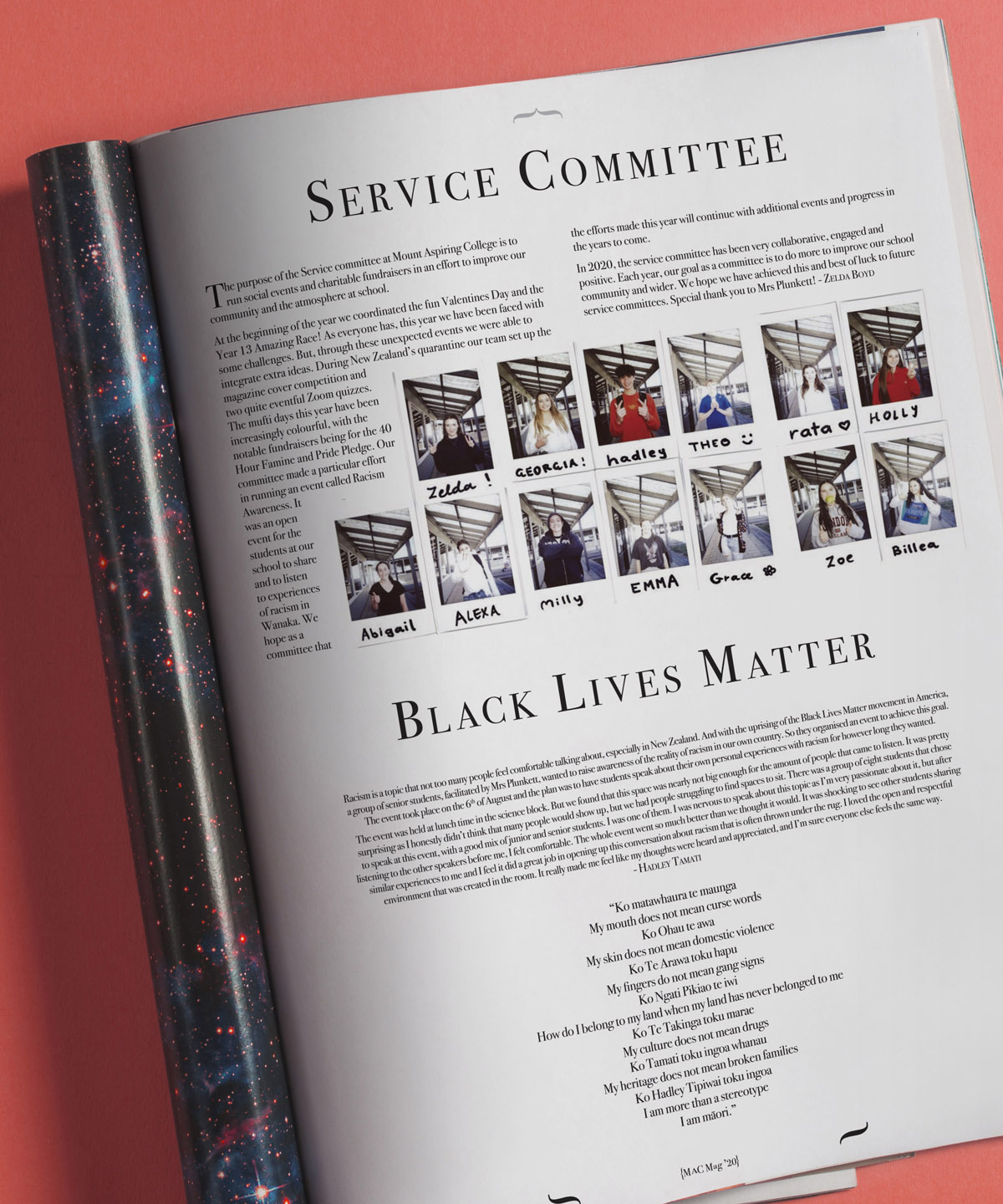 MAC Magazine Service Committee page