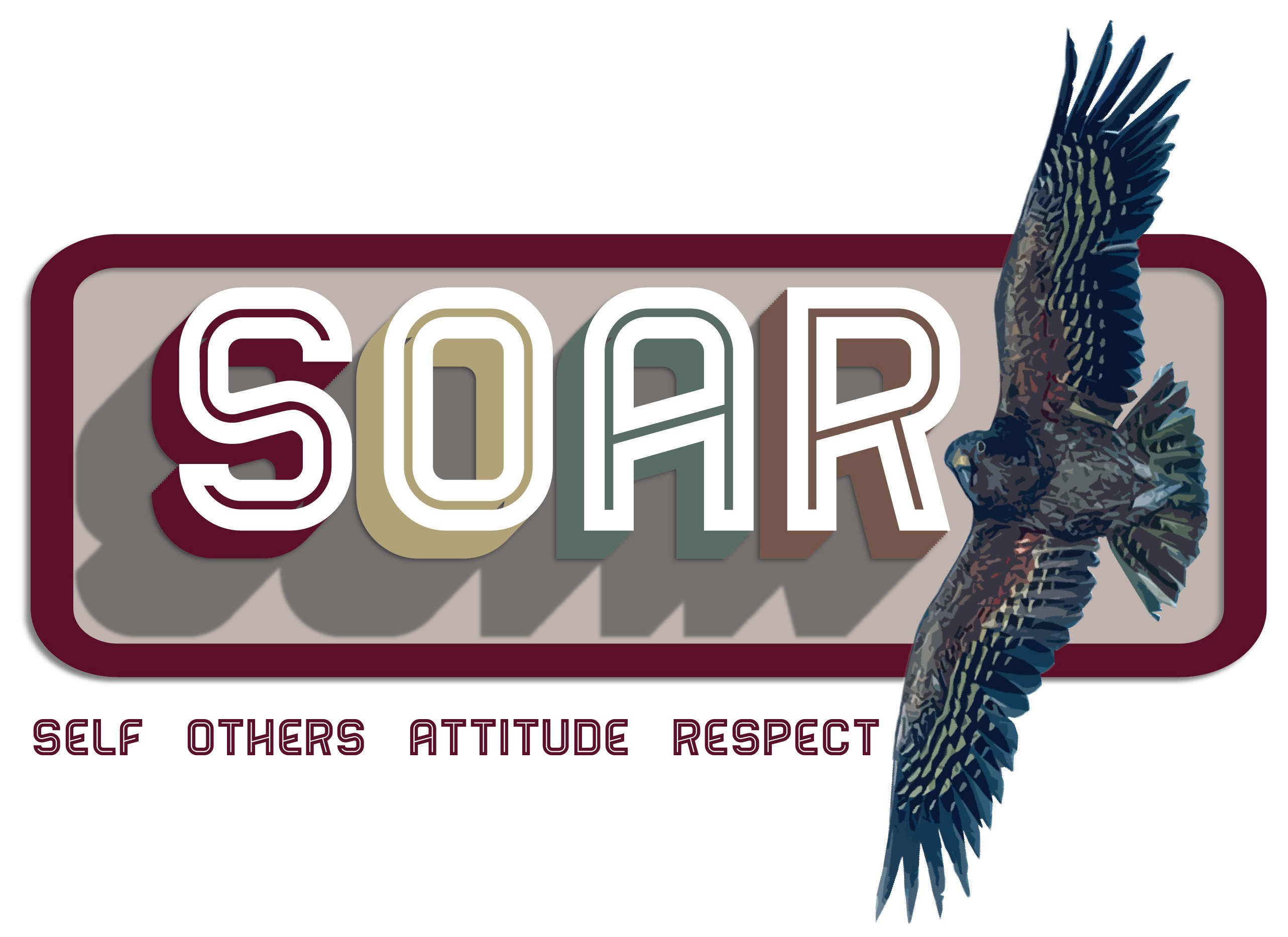 SOAR logo - Self, Others, Attitude and Respect.