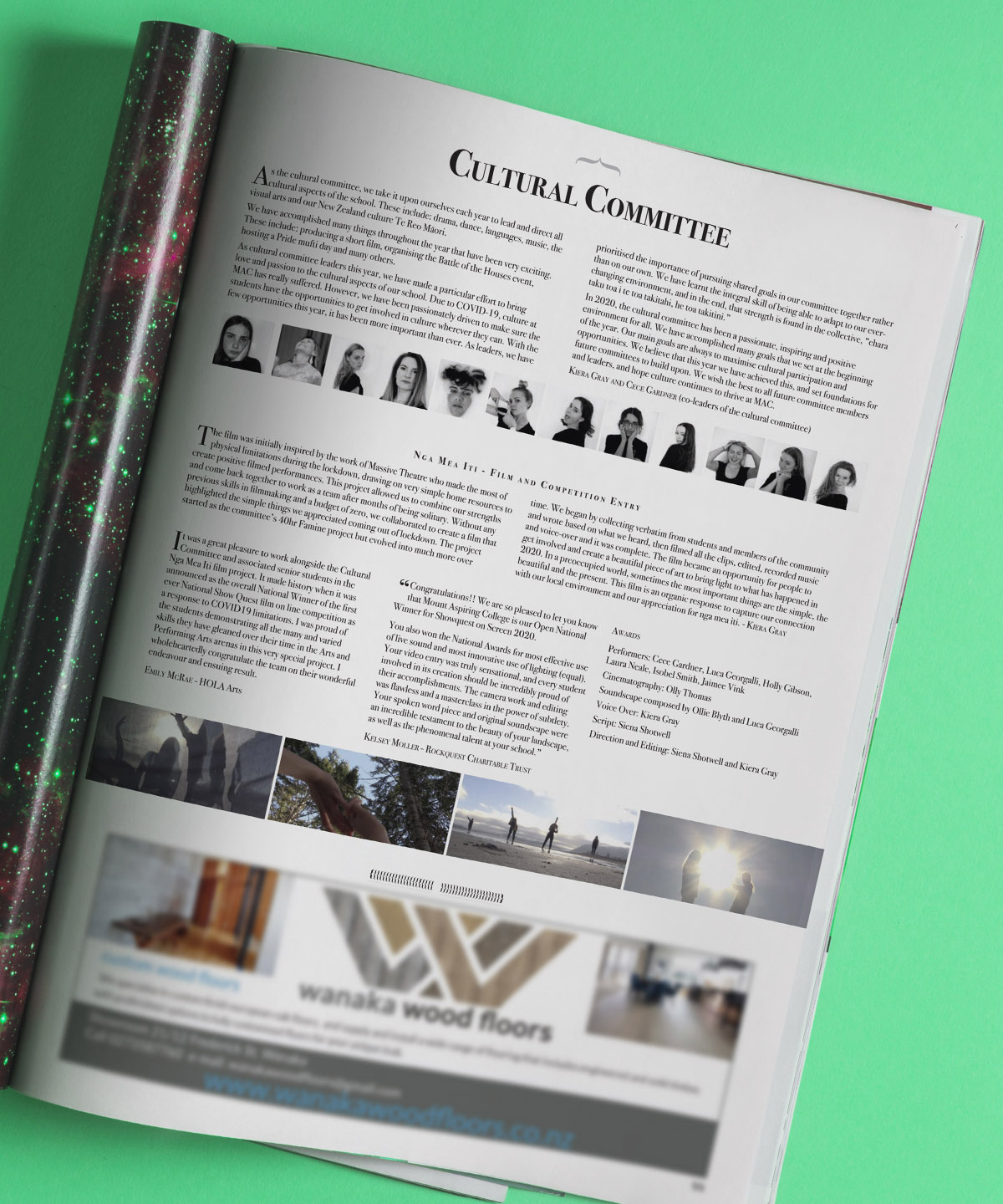MAC Magazine Cultural Committee page